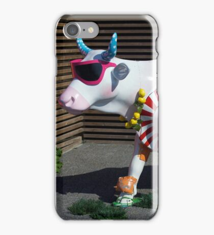 Painted Cow on Holiday - at Floriade iPhone Case/Skin