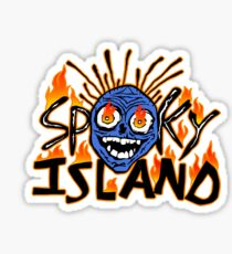 scary isle Sticker