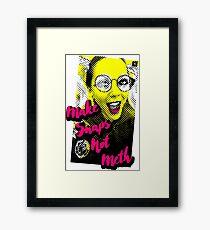 Make Snaps not Meth Framed Print