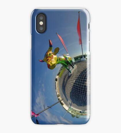 Two Cows on Parade, lower - Ebrington Square, Derry iPhone Case