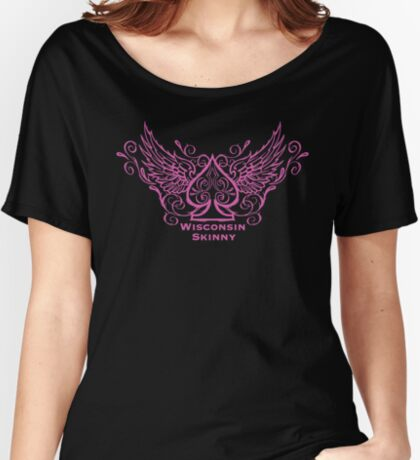 Wisconsin Skinny Ace of Spades  Women's Relaxed Fit T-Shirt