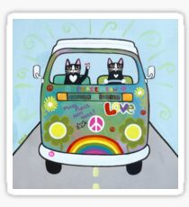 The Hippie Bus Sticker