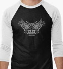 Wisconsin Skinny Ace of spade white Men's Baseball ¾ T-Shirt