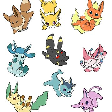Blue eevees by AwkwardHandsome