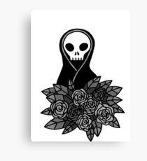 Reaper Bouquet ~ Grey scale Canvas Print