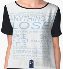 The Doctor's Speech at the Pandorica Women's Chiffon Top