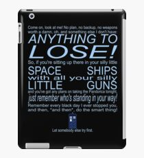 The Doctor's Speech at the Pandorica iPad Case/Skin