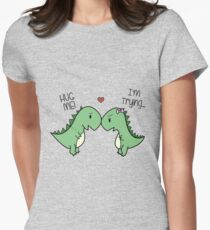 Dino Love! (Hug Me!) Women's Fitted T-Shirt