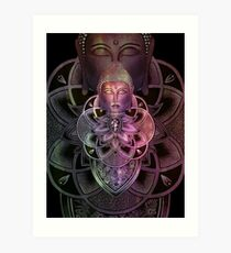 Zen color 2 - black Art Print