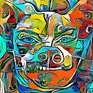 Chihuahua Jolie Abstract Animal Illustration by Anthony Ross