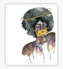 Ring Around the Afro Sticker