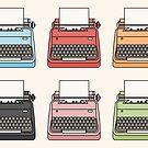Nette bunte Schreibmaschinen von RumourHasIt