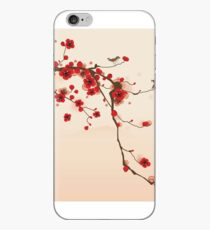 Whimsical Red Cherry Blossom Tree iPhone Case