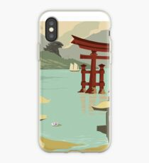 Japan - Kaiju Travel Poster iPhone Case
