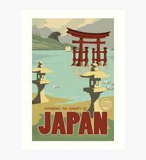Japan - Kaiju Travel Poster Art Print