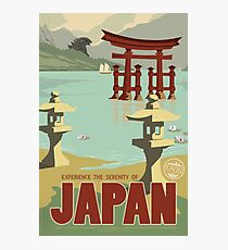 Japan - Kaiju Travel Poster Photographic Print
