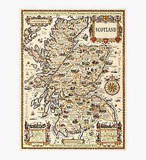 1927 vintage Scotland map design - unique gift idea Photographic Print