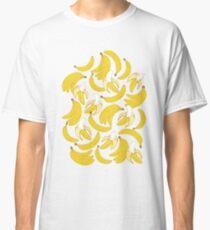 Banana pattern on turquoise background Classic T-Shirt