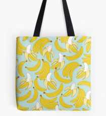 Bananenmuster auf Türkishintergrund Tote Bag