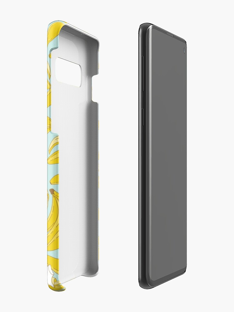 Alternate view of Banana pattern on turquoise background Case & Skin for Samsung Galaxy