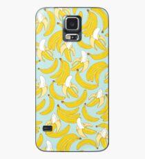Funda/vinilo para Samsung Galaxy Patrón de plátano sobre fondo turquesa