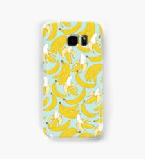 Banana pattern on turquoise background Samsung Galaxy Case/Skin