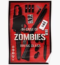 Zombie Emergency Kit Poster
