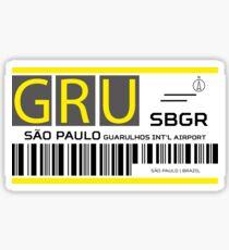 Destination Sao Paulo Airport Sticker