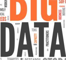 big data orange cloud Sticker