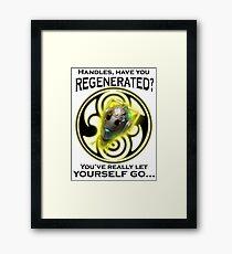 Handles' Regeneration Framed Print