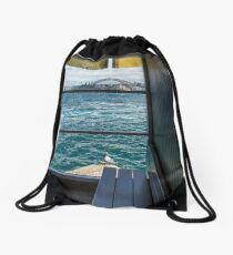 Escher's Pigeon - Sydney Harbour Drawstring Bag