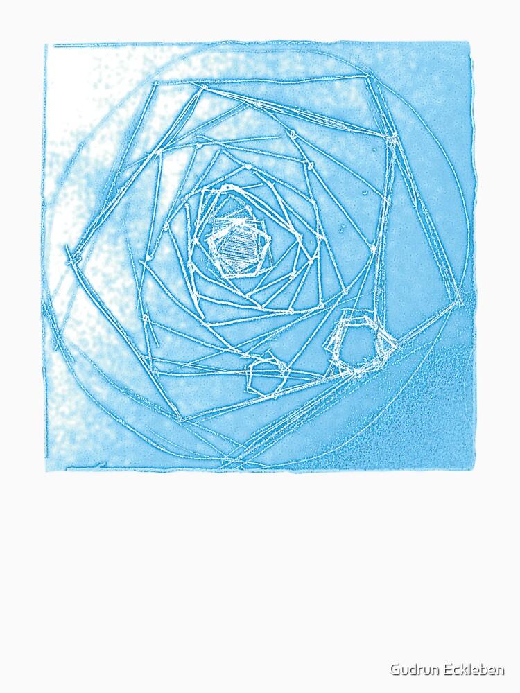 Magical Blue Fractal Depth Tee by gudders