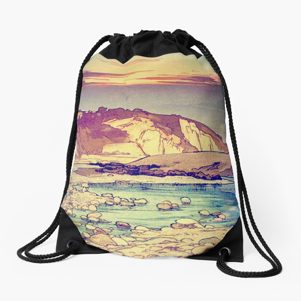 Sunset at Yuke Drawstring Bag