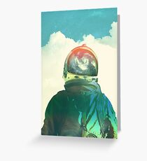 God is an astronaut Greeting Card