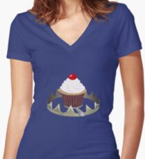 Dangerous Cupcakes Women's Fitted V-Neck T-Shirt