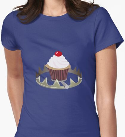 Dangerous Cupcakes Womens Fitted T-Shirt
