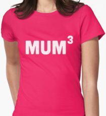 Mum Cubed / 3 Women's Fitted T-Shirt