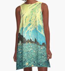 Durch den Kennijo-See watscheln A-Linien Kleid