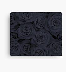 Black Spectacular Roses Canvas Print