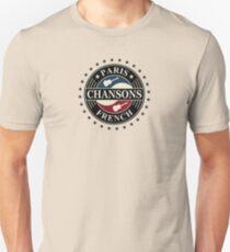 Paris Chansons Französisch Slim Fit T-Shirt