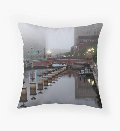 Early Morning Fog Throw Pillow