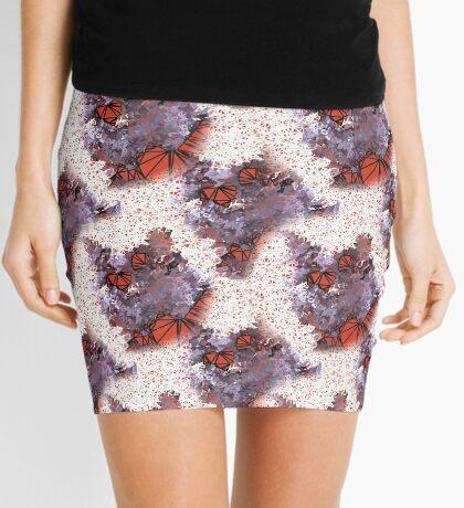Red Black Cat #Polygonized Mini Skirt