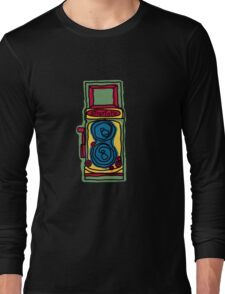 Bold and Colorful Camera Design Long Sleeve T-Shirt