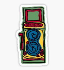 Bold and Colorful Camera Design Sticker