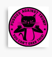 Pussies Against Trump Pink Canvas Print