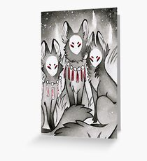 The Kitsune Companions Greeting Card
