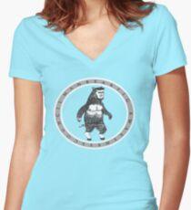ManBearPig Awareness Council Women's Fitted V-Neck T-Shirt