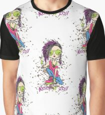 Funny rock and roll girl  Graphic T-Shirt