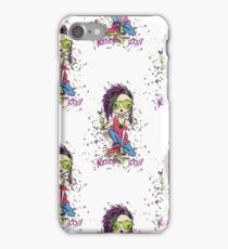 Funny rock and roll girl  iPhone Case/Skin