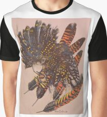 Mixed Media Artwork - Native Western Australian Redtail Cockatoo   Graphic T-Shirt